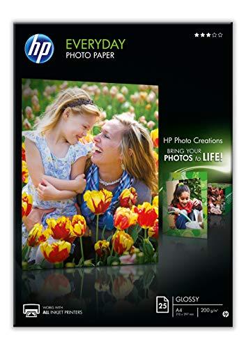 HP Evertday Glossy Photo Paper Q5451A Carta Fotografica Lucida Originale HP, Compatibile con...