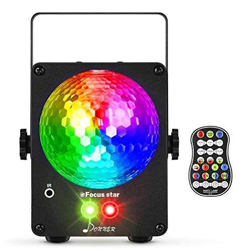 Donner Sound Activated Disco Ball Party Lights, Stage Laser LED for Xmas Club Bar KTV Holiday Dance Christmas Birthday Home Decoration, with Wireless Speaker