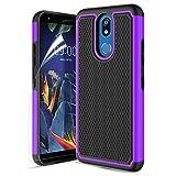 Wallme LG K40 Case/LG Solo LTE(L423DL)/Harmony 3/X4 2019/LMX420/Xpression Plus 2 Case W[HD Screen Protector] Full Body Protective Case -Purple