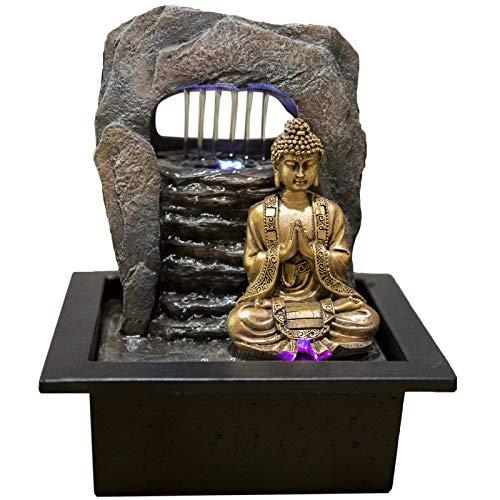 Zen\'Light Zen Dao Brunnen, Harz, Bronze, 21 x 17 x 25 cm