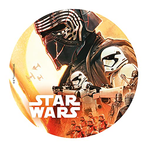 Dekora - Decorazione per Torta, Cialda Rotonda - Licenza Ufficiale di Star Wars - 5x220x270mm
