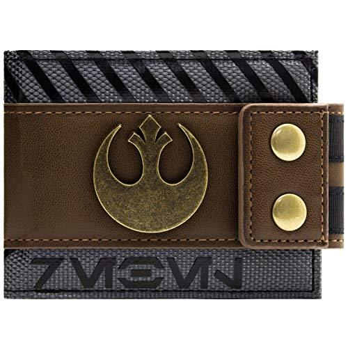 Cartera de Star Wars Rogue Uno Rebel Abotonado marrón