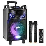 Enceinte Sono Portable Haut-parleur Moukey 650 Watt Système de Karaoké...