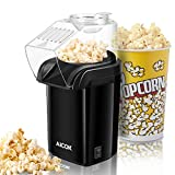 Machine à Pop Corn, Aicok Retro Popcorn Maker, Air Chaud Sans Gras Huile,...