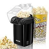 Machine à Pop Corn, Aicok Retro Popcorn Maker, Air Chaud Sans Gras Huile, Revêtement...