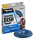 Kutzall Extreme Shaping Dish - Coarse, 4-1⁄2' (114.3mm) Dia. X 7⁄8' (22.2mm) Bore - Woodworking Angle Grinder Attachment for DeWalt, Bosch, Milwaukee, Makita. Abrasive Tungsten Carbide, DW412X90