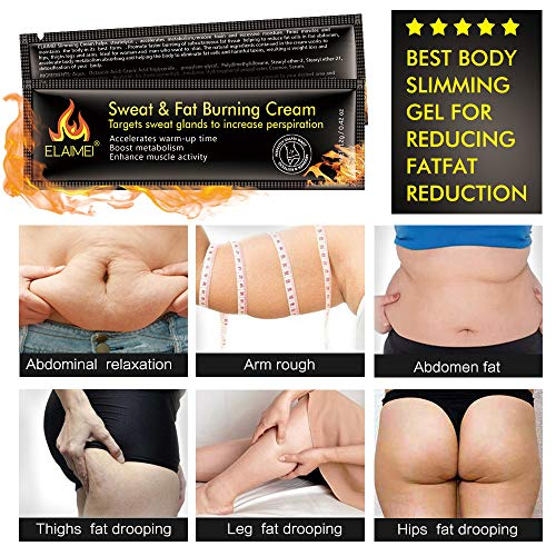 Hot Sweat Cream(10 pack), Extreme Cellulite Slimming & Firming Cream, Body Fat Burning Massage Gel Weight Losing, Treatment for Shaping Waist, Abdomen and Buttocks 2
