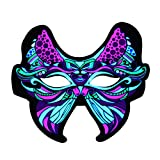 Sound Rective LED Mask Christmas Mask Lighted Up Butterfly Mask for Party Music Reactive Flashing Mask Light Up Activated LED for Adults and Kids