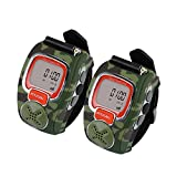 VECTORCOM RD007 Portable Digital Wrist Watch Walkie Talkie Two-Way Radio Outdoor Sport Hiking, Camouflage.462MHZ.1pair, Green