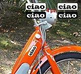 Kit d'autocollants compatibles avec Piaggio Ciao avec inscription logo moto...