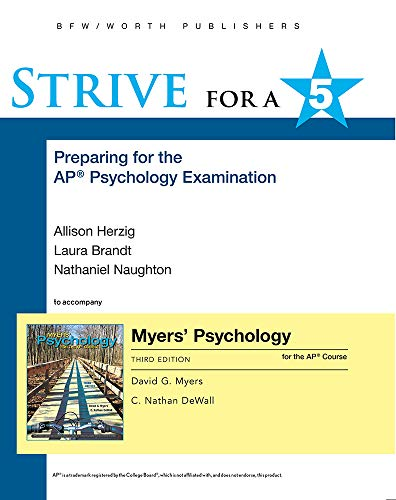 Strive for a 5: Preparing for the AP® Psychology Exam (Myers AP®)