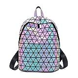 Geometric Backpack Holographic Luminous Backpacks Reflective Bag Luminesk Irredescent Rucksack Luminous NO.1