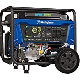 Westinghouse WGen7500DF Dual Fuel Portable Generator 7500 Rated & 9500 Peak Watts, Gas or Propane Powered, Electric Start, Transfer Switch Ready, CARB Compliant