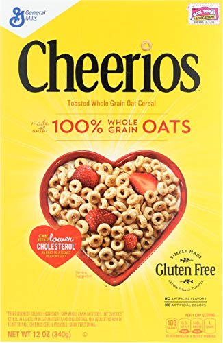 General Mills Cheerios Toatsed Whole Grain Oat Cereal, 340g