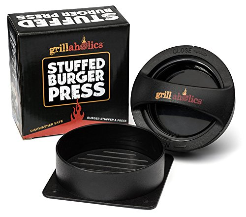 Grillaholics Stuffed Burger Press and Recipe eBook - Extended Warranty...