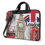 London Big Ben, Ligero, Impermeable, portátil, portátil, Mochila, Bandolera, maletín, Mensajero con Correa, 15,6″
