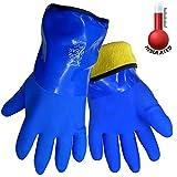 Frogwear 8490 Insulated & Waterproof Blue Tripple Dipped Work Gloves,...