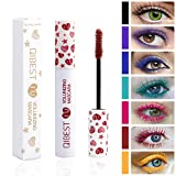 Waterproof Color Mascara, COOSA 7 Color Variety Pack Mascara Eyeliner Charming Longlasting Mascara for Eyelash Eye Makeup-7PCS