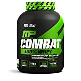 MusclePharm Combat 100% Whey, Muscle-Building Whey Protein Powder, 25 g of Ultra-Premium, Gluten-Free, Low-Fat Blend of Fast-Digesting Whey Protein, Vanilla, 5-Pound, 73 Servings