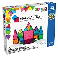 3D MAGNETIC TILES: The original 3D magnetic building sets that engage young minds by fusing together math, science, and creativity. Create flat or 3-dimensional shapes with this set DIVERSE SET: 32 translucent, colorful shapes including squares (2 la...