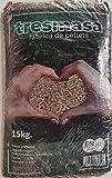 Pellet de madera de pino   Saco de pellets 15 kg   Combustible para Estufa Biomasa   Pellets certificado para calcera de Biomasa