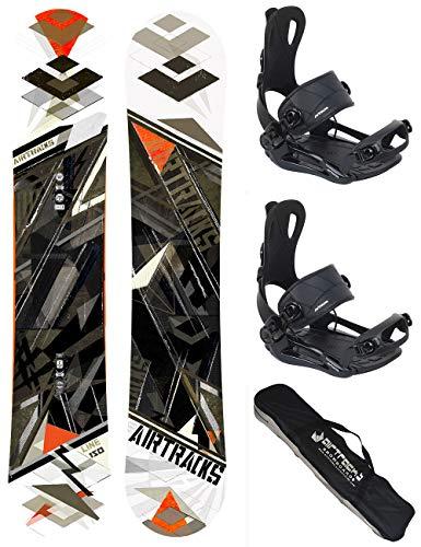 AIRTRACKS Snowboard Set - Planche Line Wide 150 - Fixations Master L - SB Bag