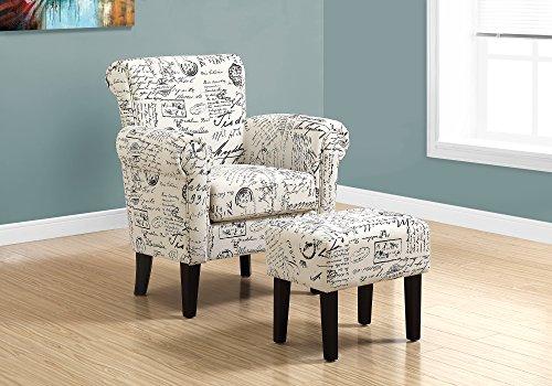 Monarch Specialties Accent Chair, Beige, 33' L x 28.5' D x 35.5' H