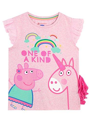 Peppa Pig Camiseta Para Niñas - Peppa y Unicornio - 2-3 Años