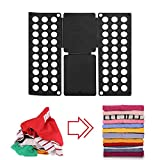 Shirt Folding Plate T-Shirt Clothing Clip-Adjustable Size Clothes Simple Laundry Clip-Durable Plastic Clothing Finishing Board Flip Folding Board-Easy for Children& Adults to Fold Clothes Quickly