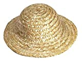 Package of Miniature 12 Straw Doll Hats 4' Overall Diameter and 2' Opening Diameter