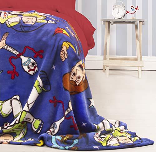 Toy Story - Coperta in pile ufficiale 4 | Blue Forky, Woody, Buzz Lightyear, super morbida, perfetta...