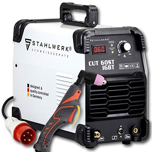 STAHLWERK CUT 60 ST IGBT Plasmaschneider mit 60 Ampere, bis 24mm Schneidleistung, für Lackierte Bleche & Flugrost geeignet, 7 Jahre Herstellergarantie