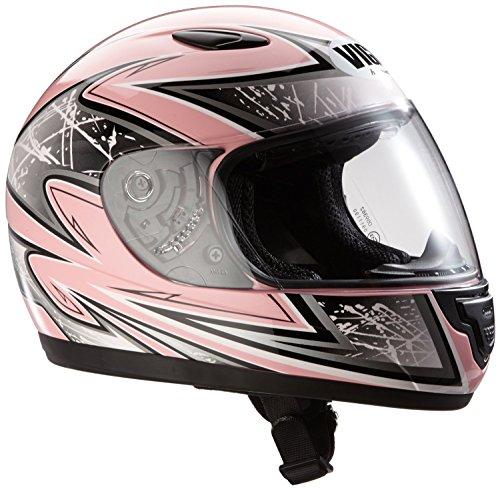 Protectwear Casque moto pour enfant / fille, rose/argenté, SA03-PK, Taille: 3XS / Youth S (49 cm)