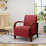 Christopher Knight Home 304491  Delilah Traditional Fabric Club Chair, Red
