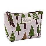 weichuang Bolsa de cosméticos para mujer, a cuadros, bolsa de maquillaje, bolsa de maquillaje, bolsa de maquillaje, bolsa de cosméticos, bolsa de viaje, organizador de belleza (color: árbol)