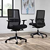 HON Basyx Biometryx Commercial-Grade Task Chair, Office, Black