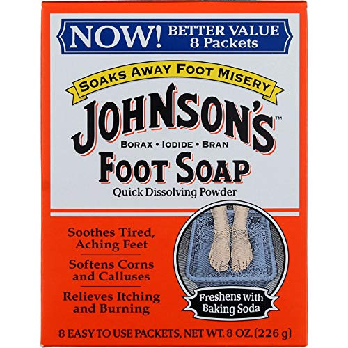 Johnsons Foot Soap Powder 8 Count (Pack of 3)