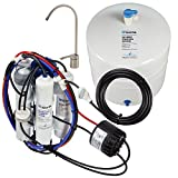 Home Master TMULTRA-ERP-L with Permeate Pump Loaded Undersink Reverse Osmosis Water Filter System, White