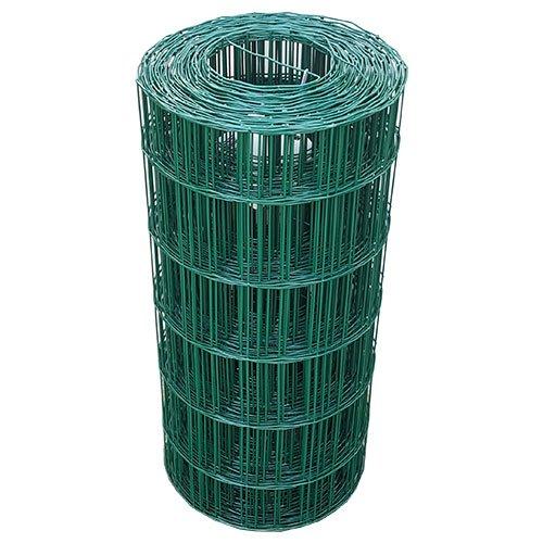 25 Meter Maschendrahtzaun Gitterzaun Drahtzaun grün Höhe 60 cm Maschenweite 7,5 x 10 cm Gartenzaun