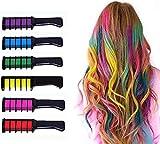 Peigne à craie 6PCS, 6 couleurs de couleur de cheveux à lustre métallique,...
