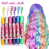 Tiza de Pelo, Cabello Tiza, Coloración temporal Cabello, Hair Chalk Set, 6 Colores Temporal Tiza de...