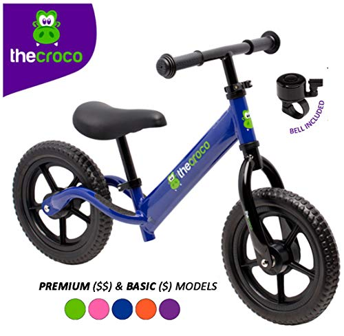 TheCroco Lightweight Balance Bike for Toddlers and Kids (Blue, Premium Model (Aluminum))
