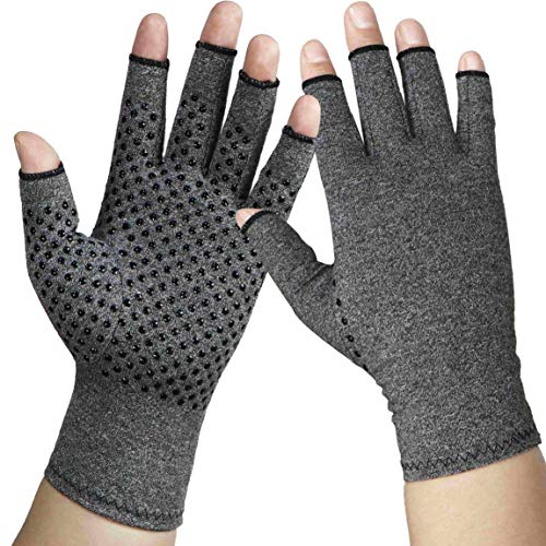 Arthritis Gloves Compression Gloves for Arthritis for Women and Men -Relieve Rheumatoid and osteoarthritis, Swelling,Muscle Tension and Computer Typing(1 Pair) (L)