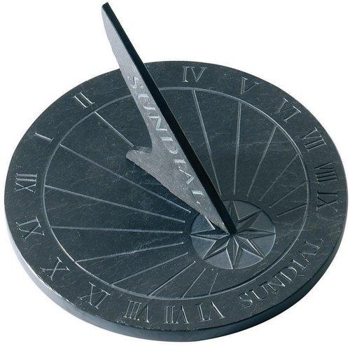 Large Round Slate Garden Sundial (Garden & Outdoors)