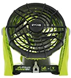 Ryobi P3320 18 Volt Hybrid One+ Battery or AC Powered Adjustable Indoor / Outdoor Shop Fan (Battery and Extension Cord Not Included / Fan Only) (Renewed)