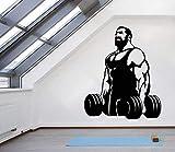 Pegatinas de vinilo para pared Fitness Club Pegatinas para dormitorios juveniles
