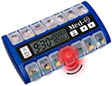Med-Q Smart Pill Reminder with Single Beep Alarm and LED Alert Light (Blue)