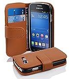 Cadorabo Coque pour Samsung Galaxy Trend Lite Noisette Marron Housse de Protection Etui Portefeuille Cover pour Trend Lite – Stand Horizontal et Fente pour Carte