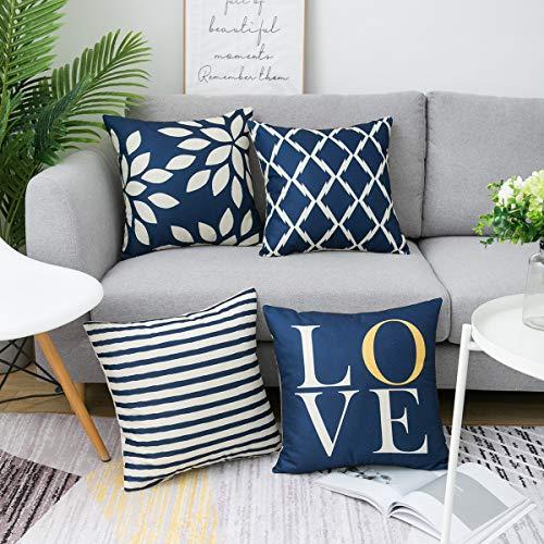 geometric design throw pillows
