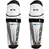 STX Ice Hockey Surgeon RX3.2 Senior Shin Pads, 14', White/Blue